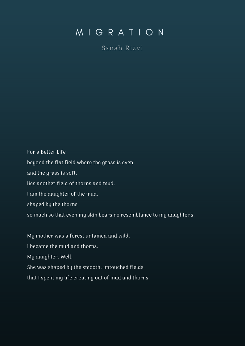 Migration - Poem